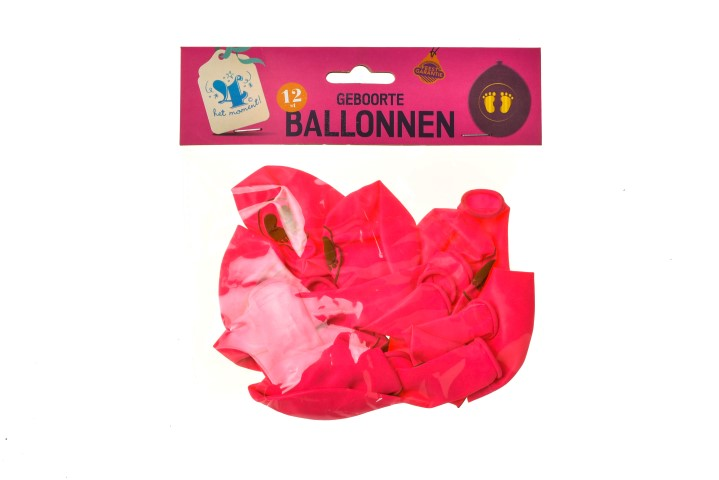 Ballonnen geboorte meisje 12 st