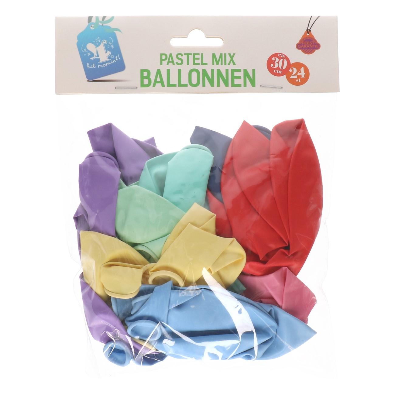 Ballonnen pastel mix