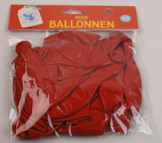 Ballonnen rood 24 stuks