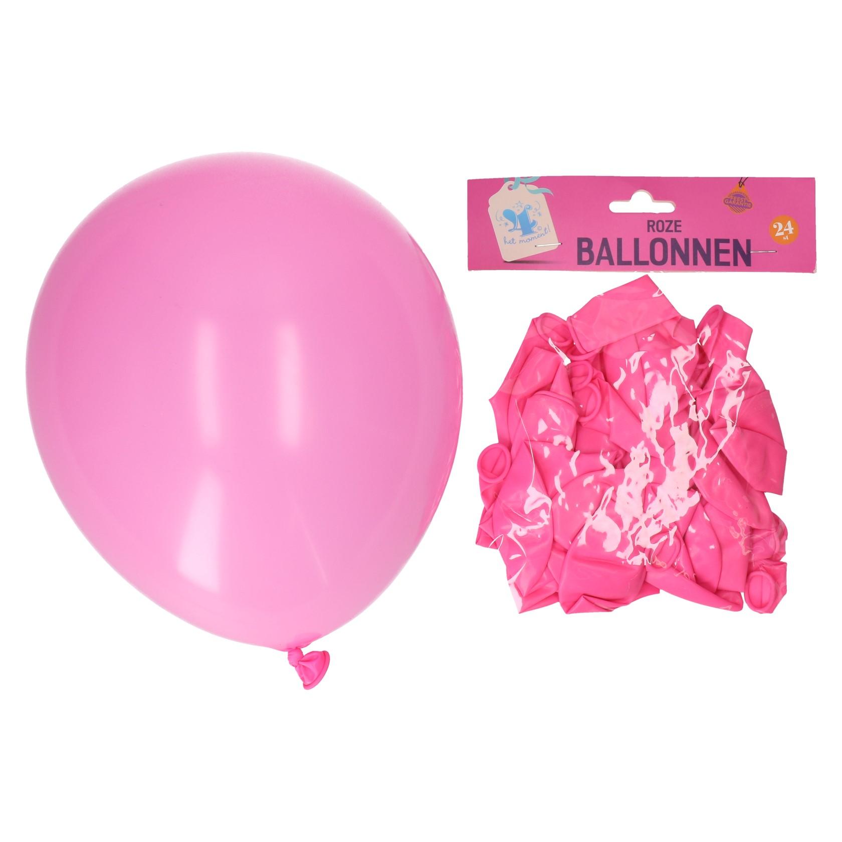 Ballonnen roze 24 stuks