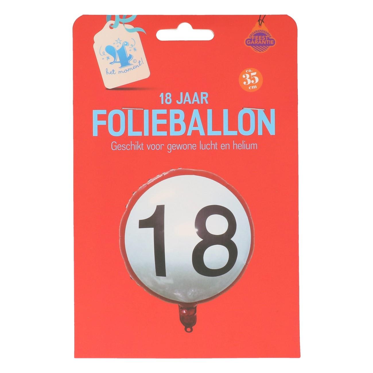 Folieballon 18 jaar