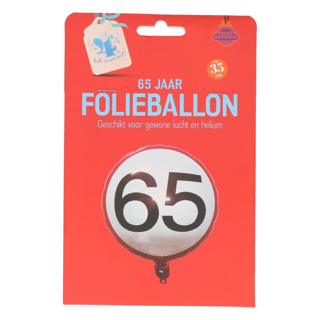 Folieballon 65 jaar