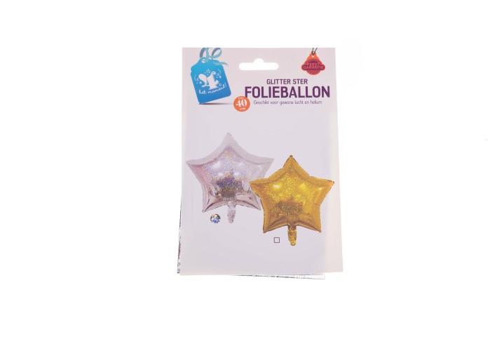 Folieballon glitter ster