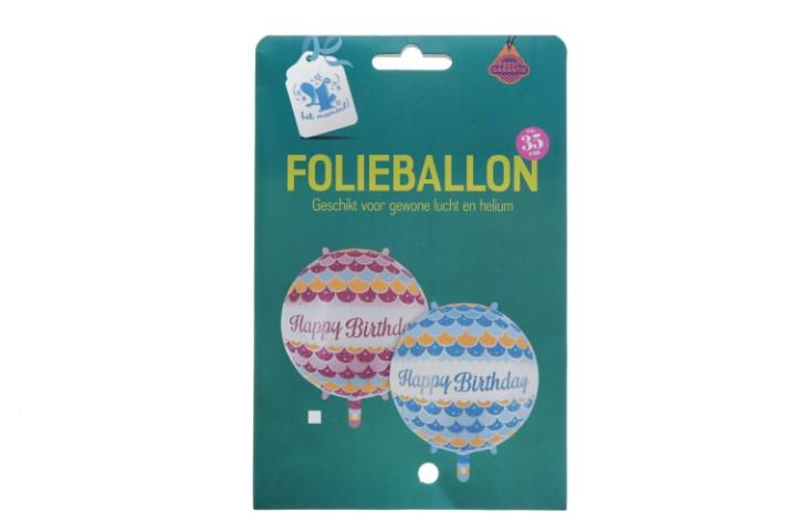 Folieballon happy birthday mermaid