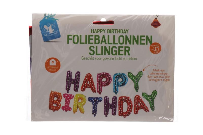 """Folieballonnen """"happy birthday"""" kleurrijk"""