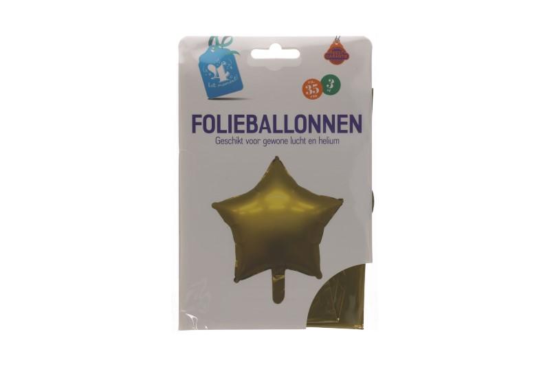Folieballonnen ster goud