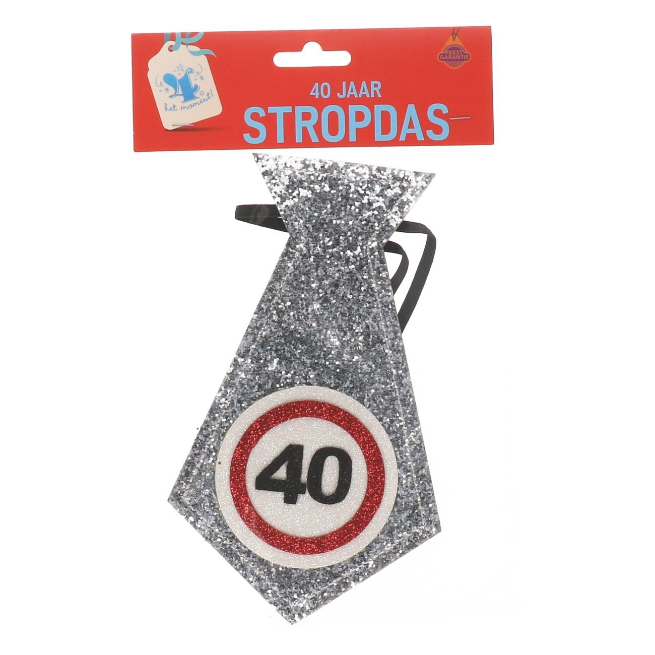 Glitter stropdas 40 jaar