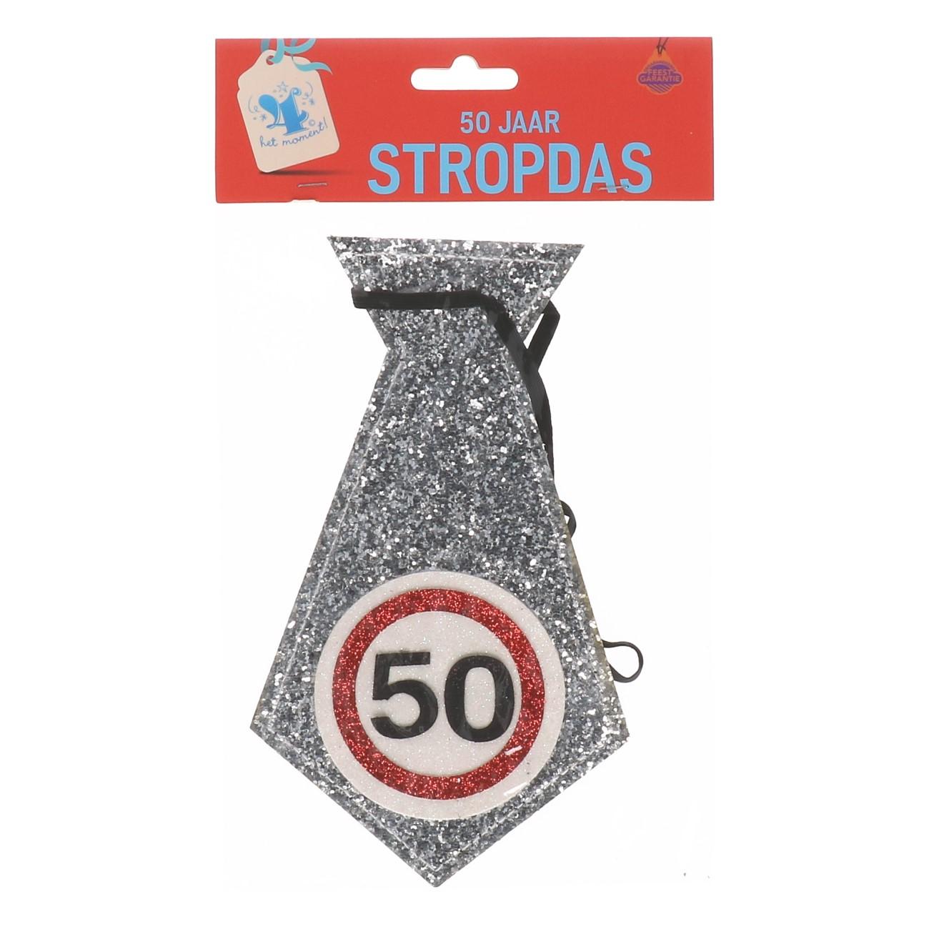 Glitter stropdas 50 jaar
