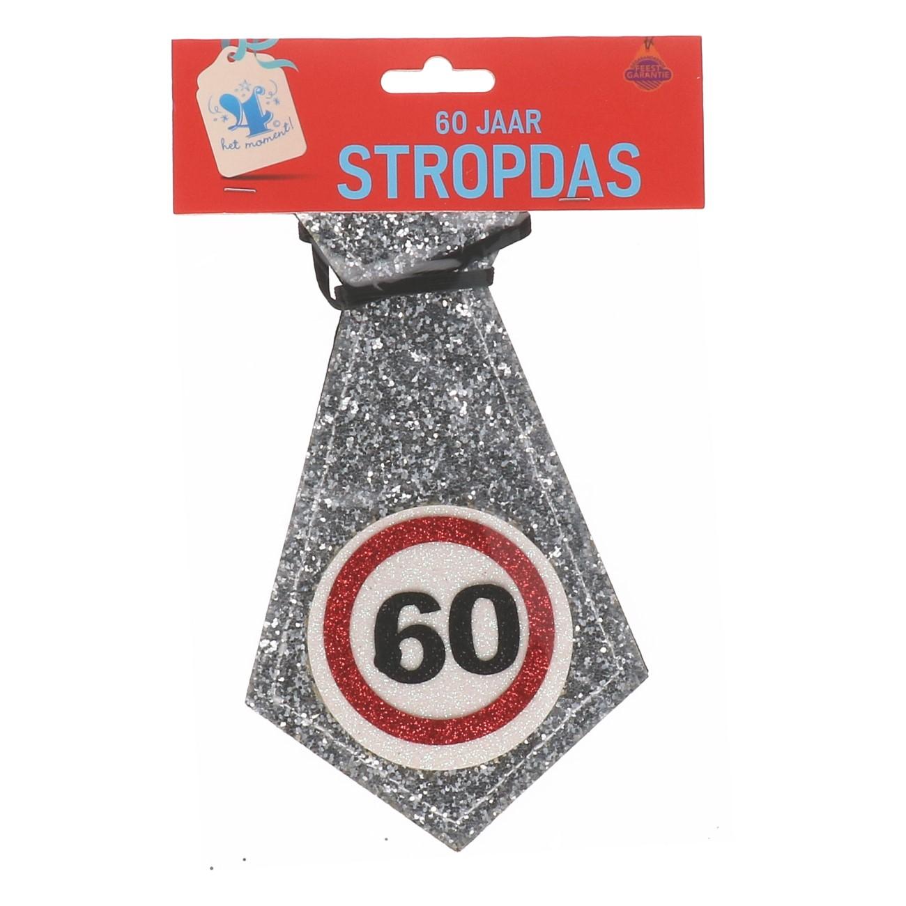 Glitter stropdas 60 jaar