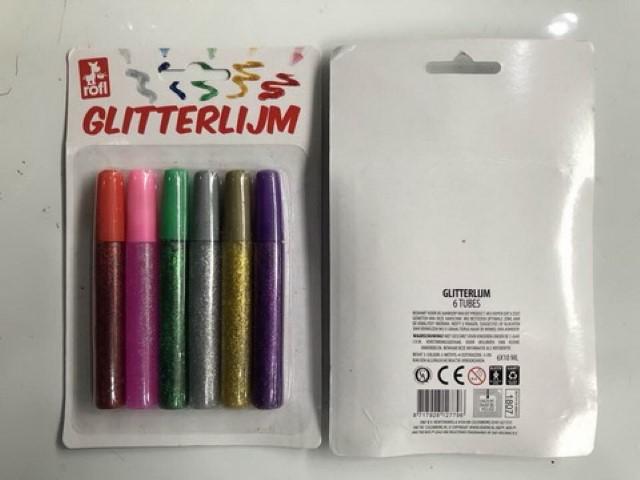 Glitter lijm 6 stuks
