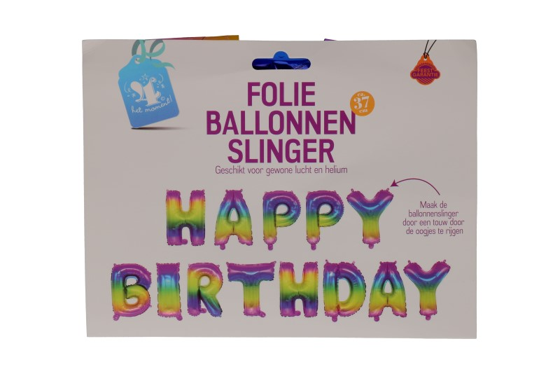 Happy birthday folieballon RAINBOW