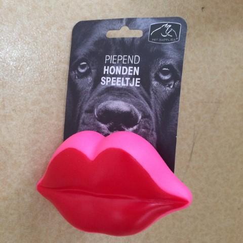 Hondenspeeltje lips piepend