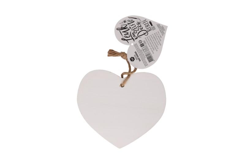 Houten hart decoratie