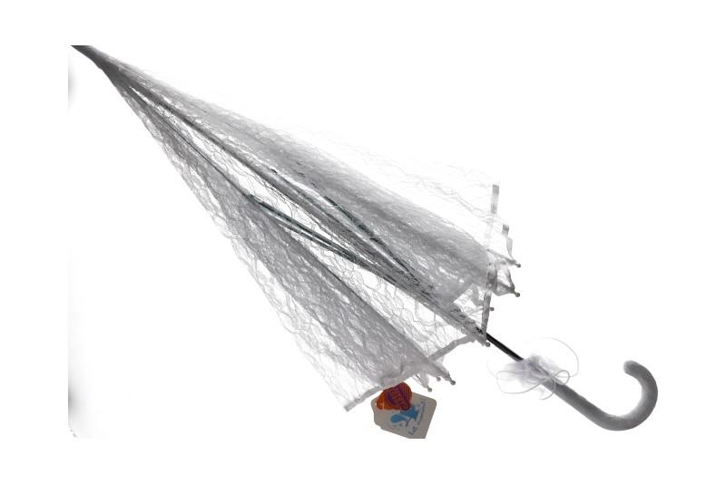 Kanten parasol wit
