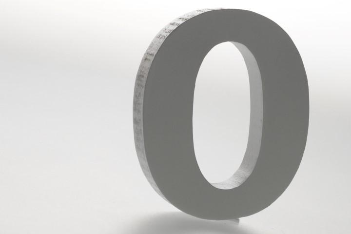 Cijfer mdf 0 (12cm)