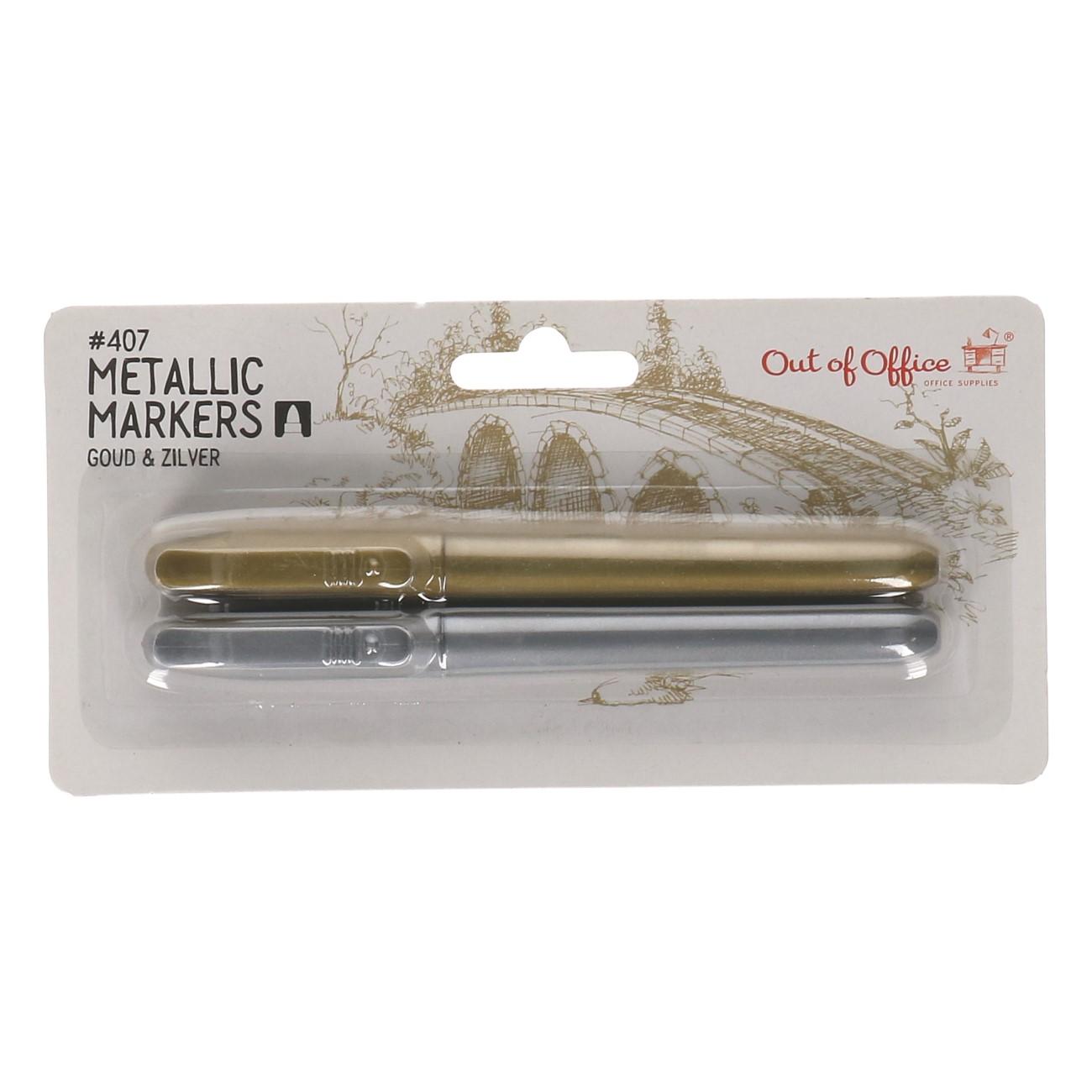 Metallic markers 2 st. (#407)