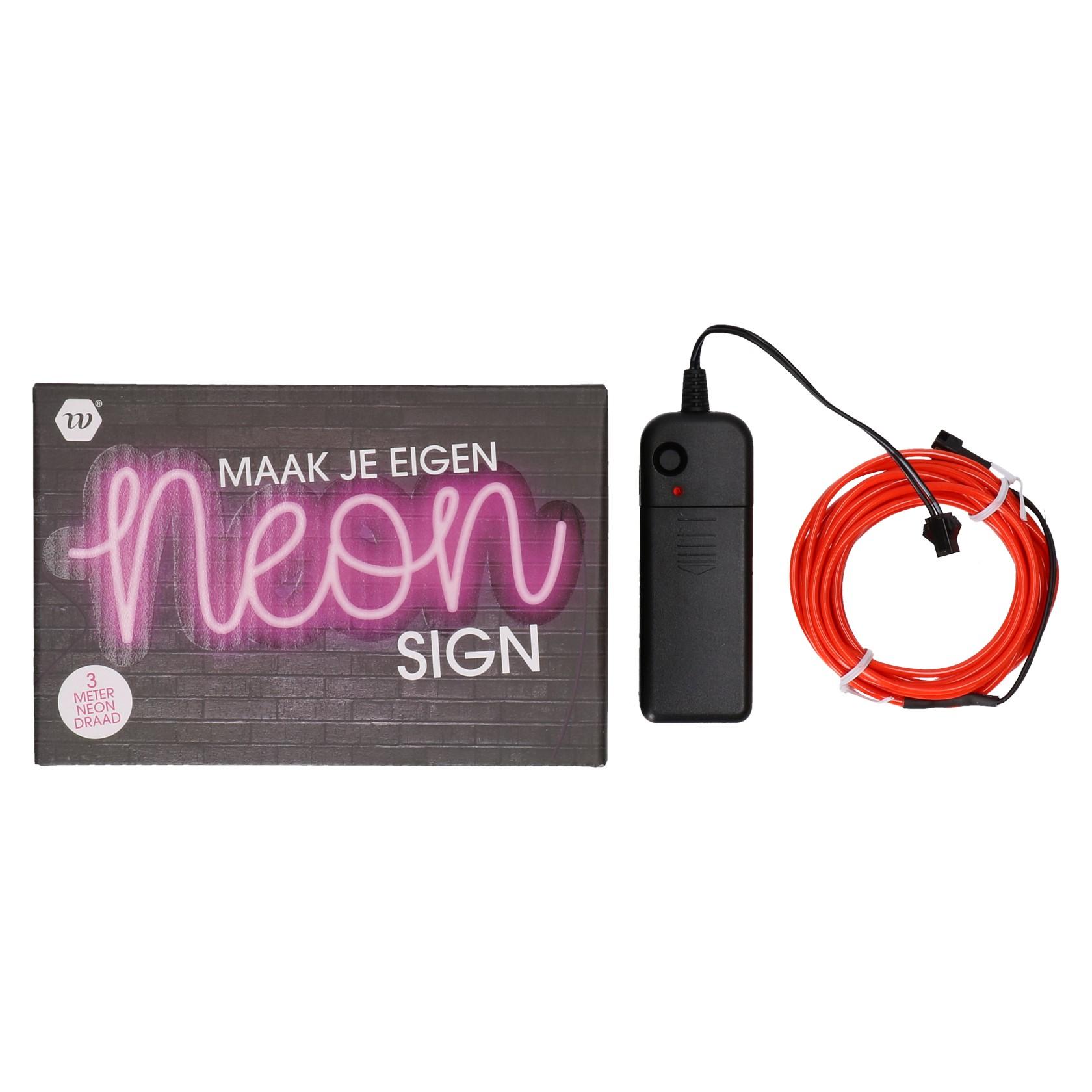 Neon sign 3 meter (maak je eigen ontwerp)