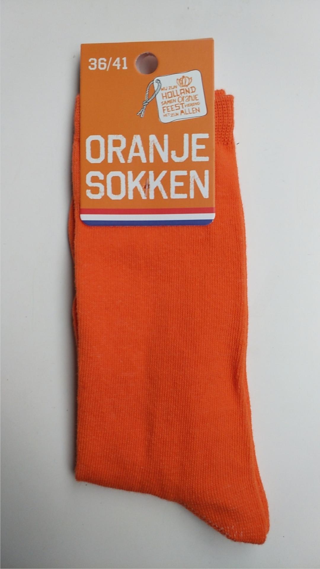 Oranje dames sokken 36-41