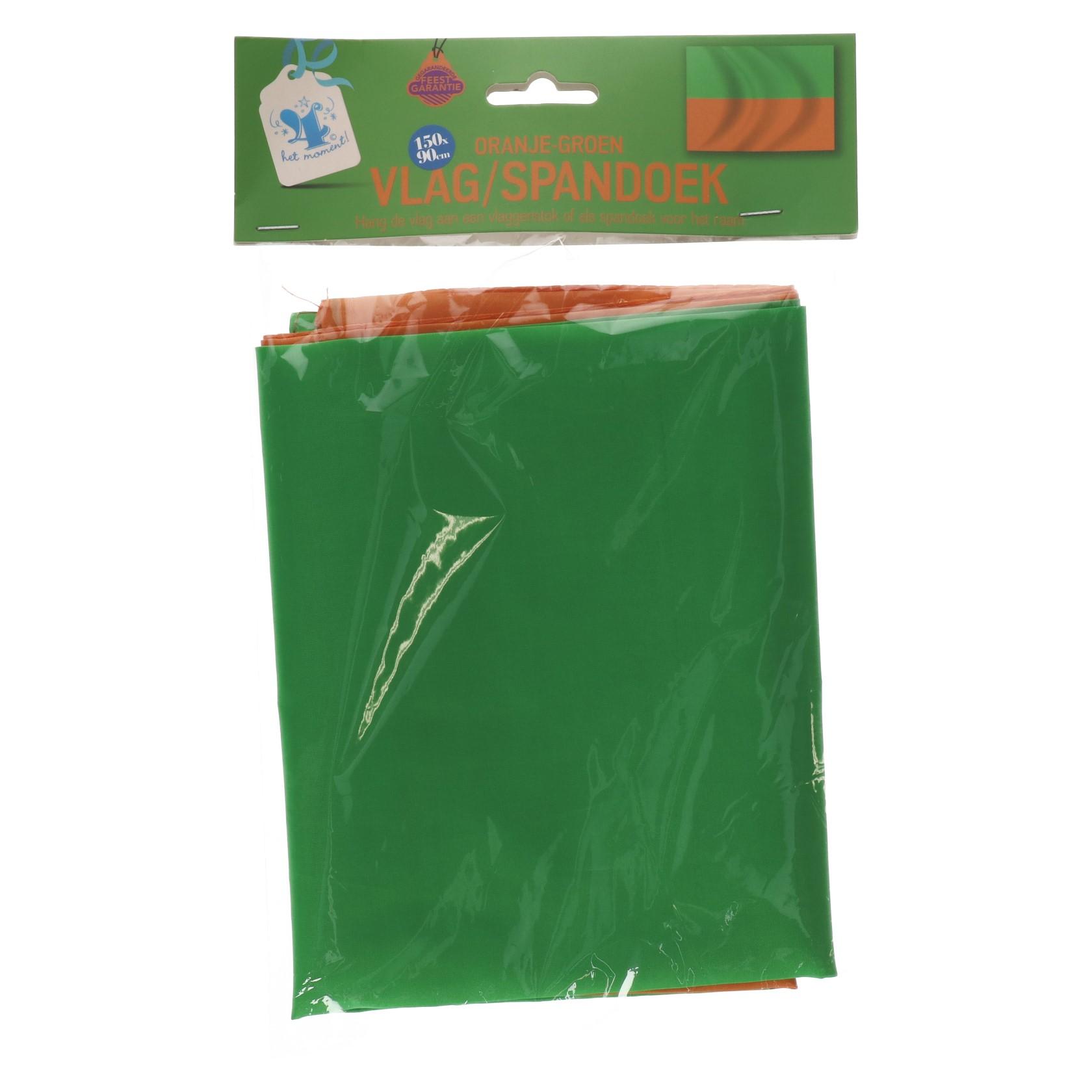 Oranje groen vlag/spandoek