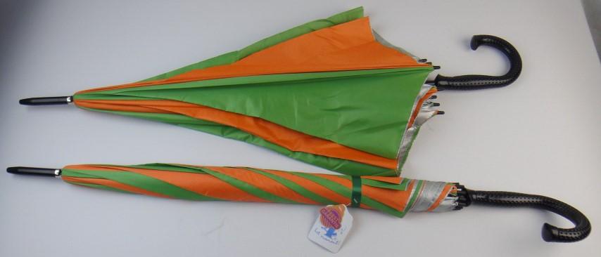Paraplu oranje-groen