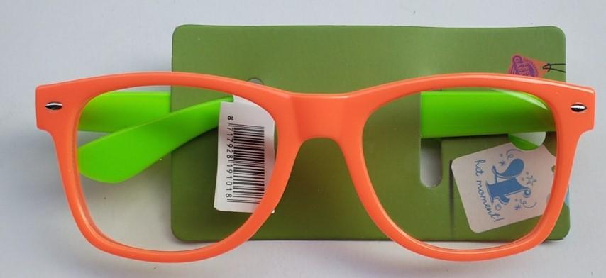 Partybril oranje/groen