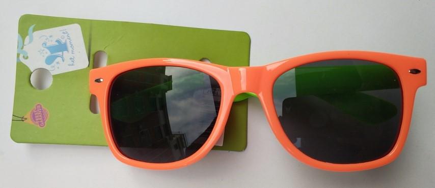 Partyzonnebril oranje/groen