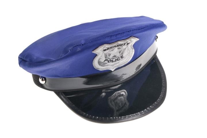 Politie pet met embleem