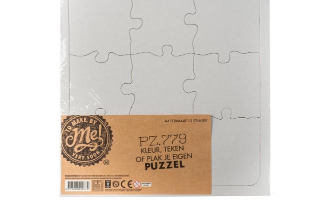 Puzzle blanco a4