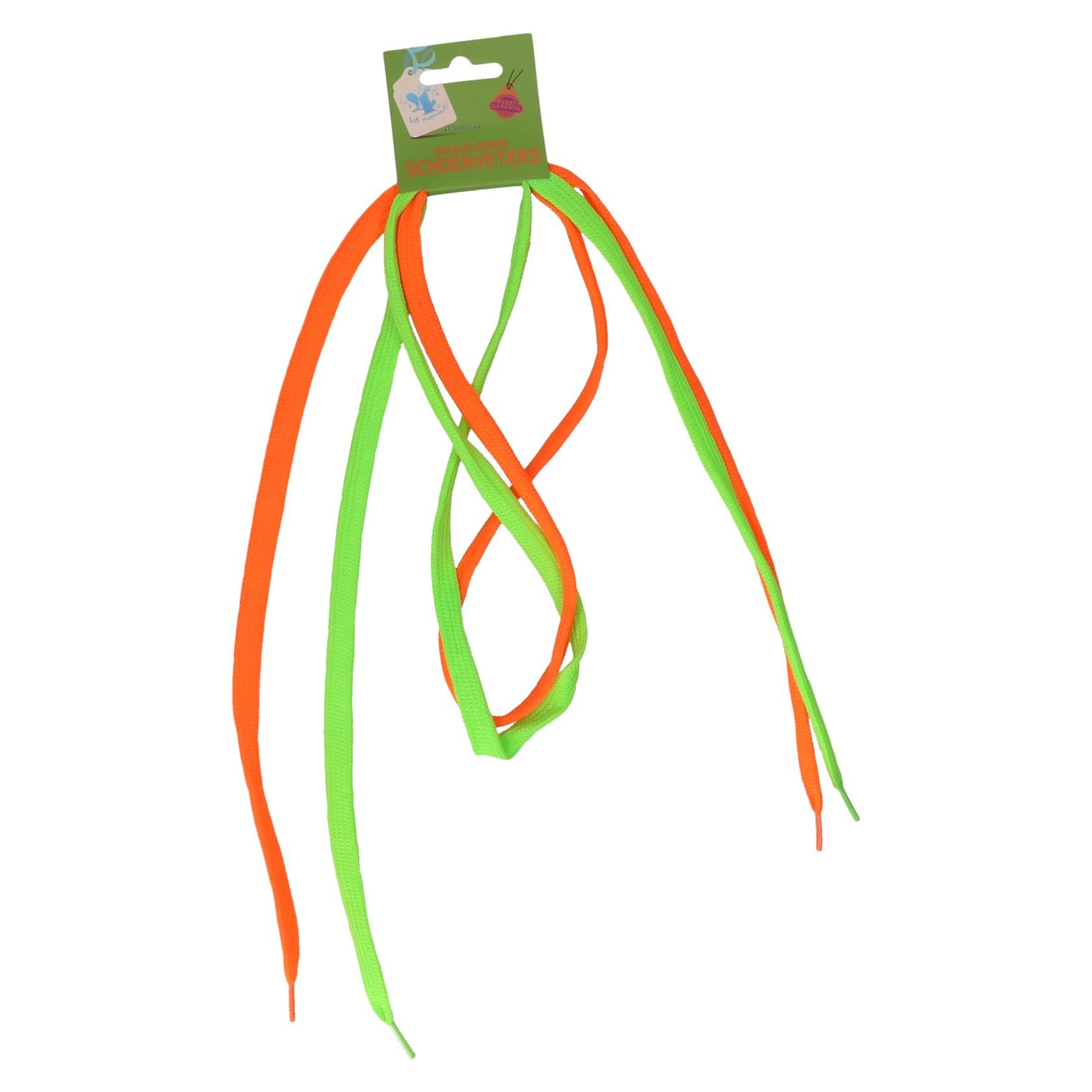 Schoenveters oranje-groen