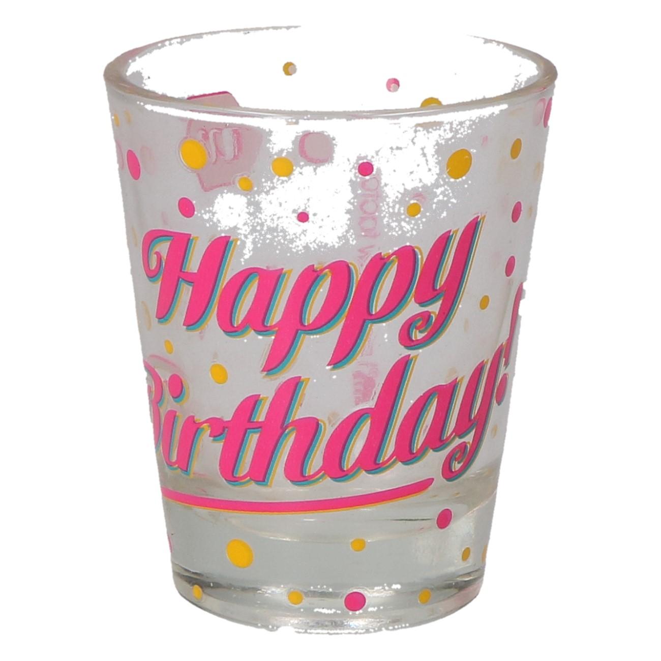 """Shotglas """"Happy birthday"""""""