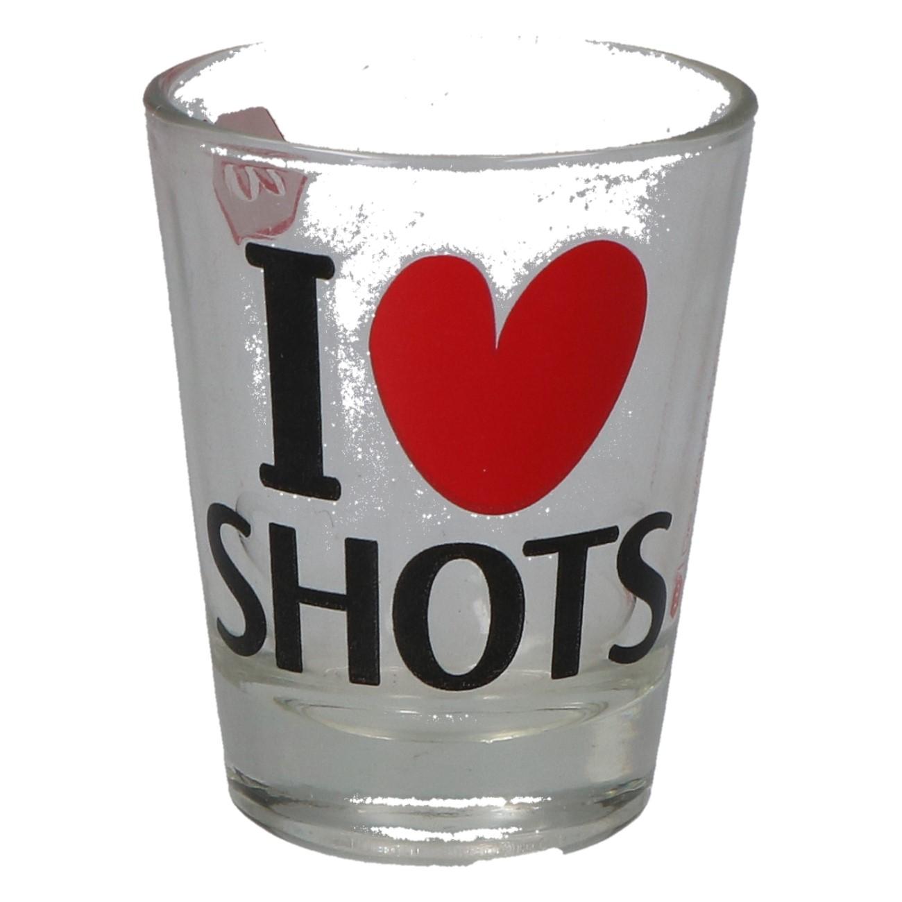 "Shotglas ""I love shots"""