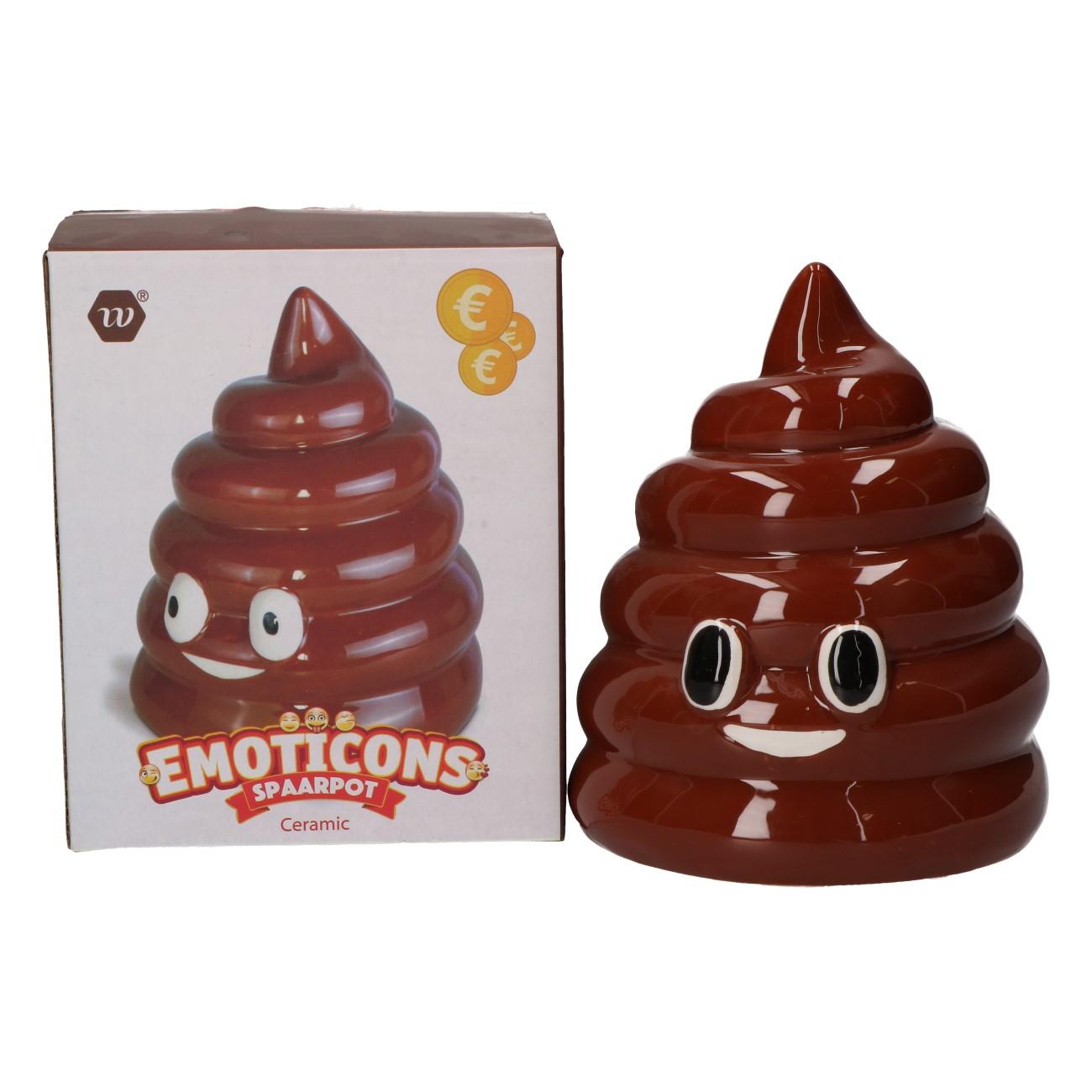 Spaarpot emoticon poop