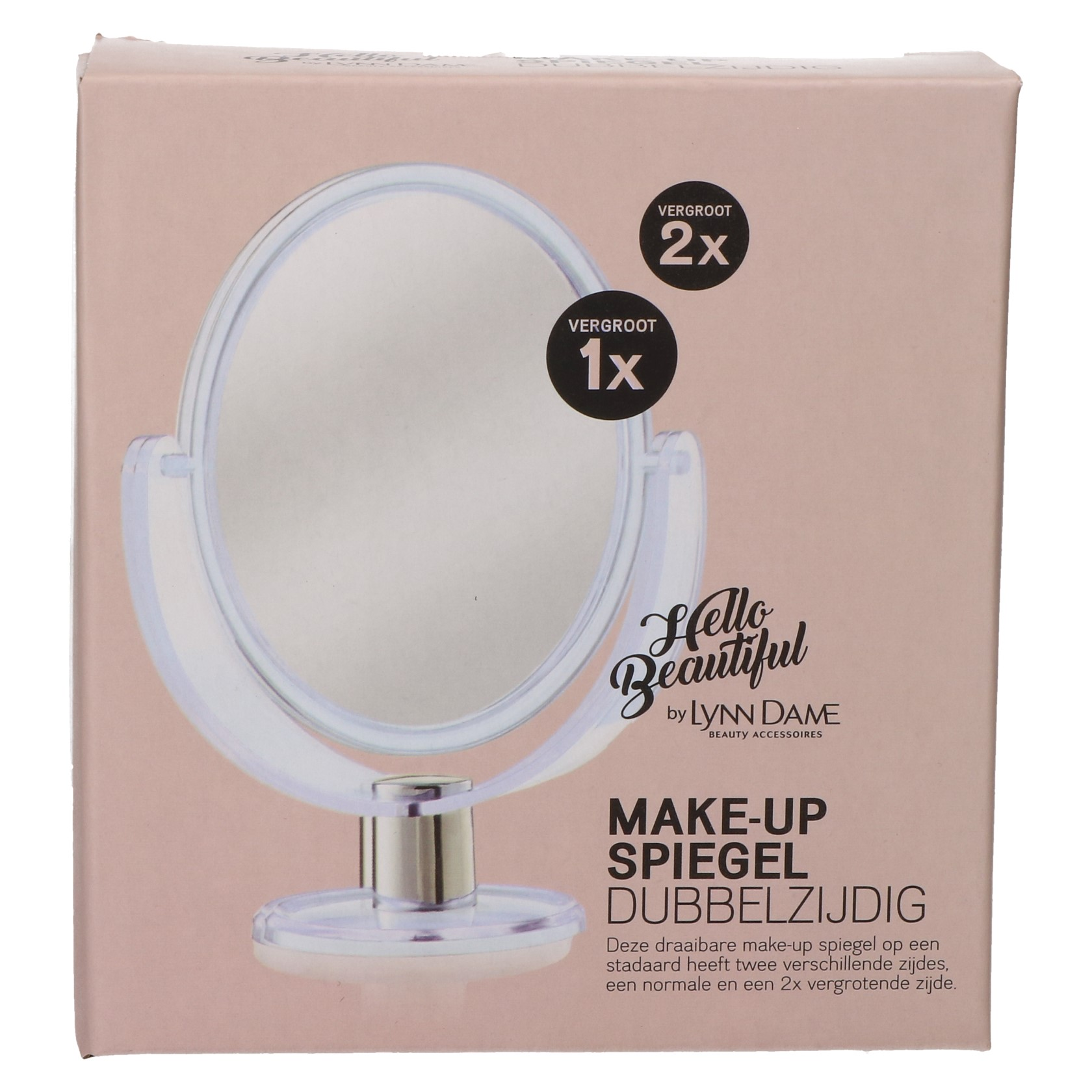 Spiegel op voet make-up