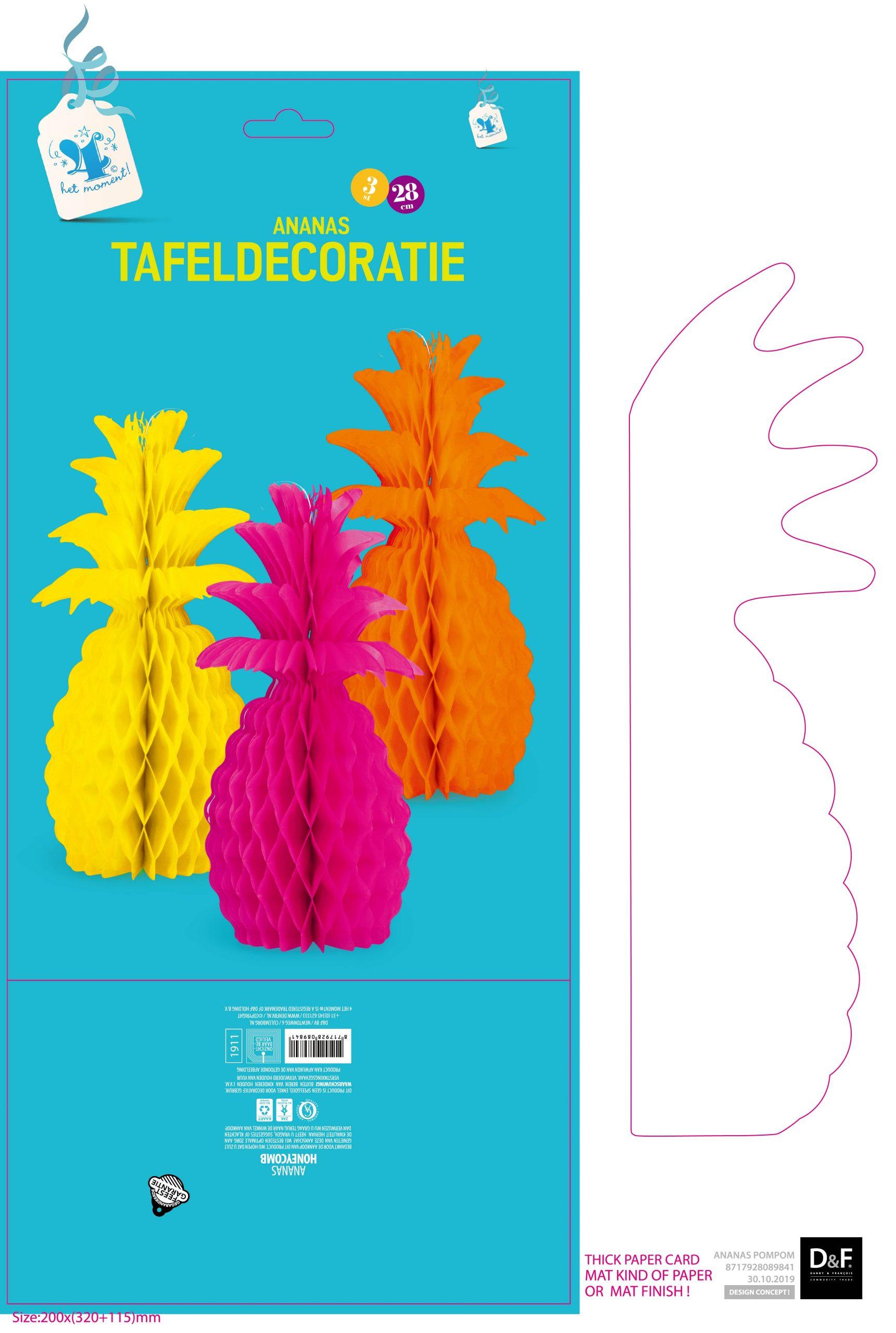 Tafeldecoratie Ananas