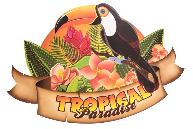 Tropical wanddecoratie