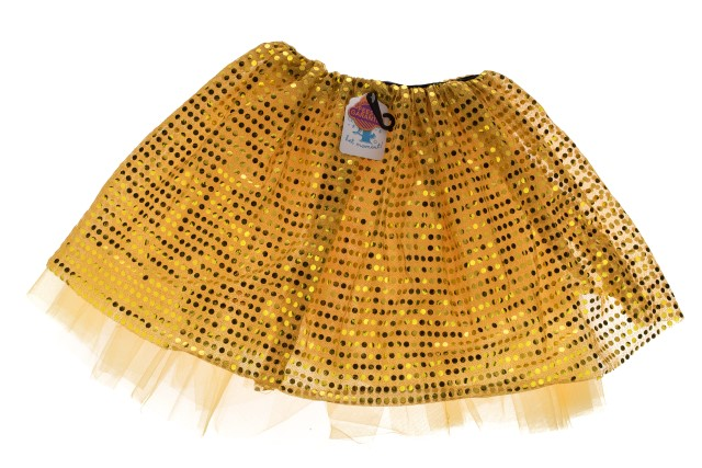 Tutu glitter goud medium / large