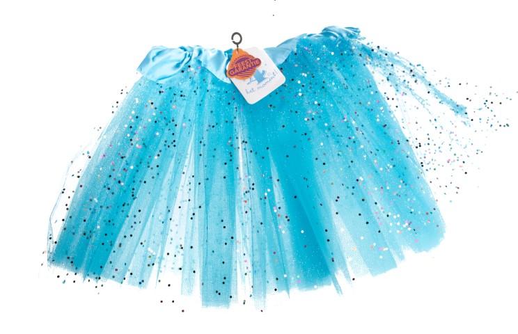 Tutu lichtblauw glitter Small