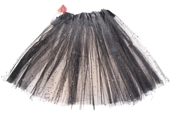 Tutu zwart glitter one size