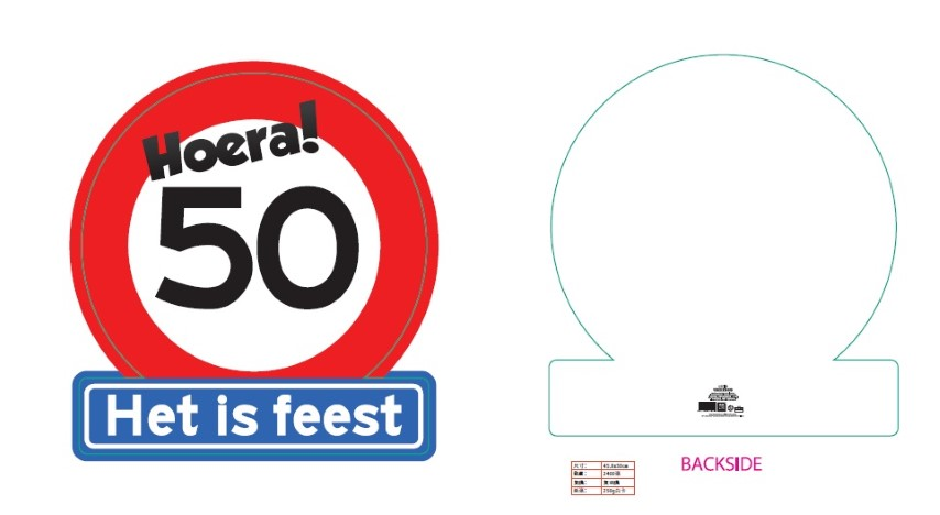 Verkeersbord leeftijd 50#