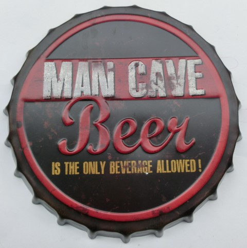 Vintage sign MAN CAVE 42 cm