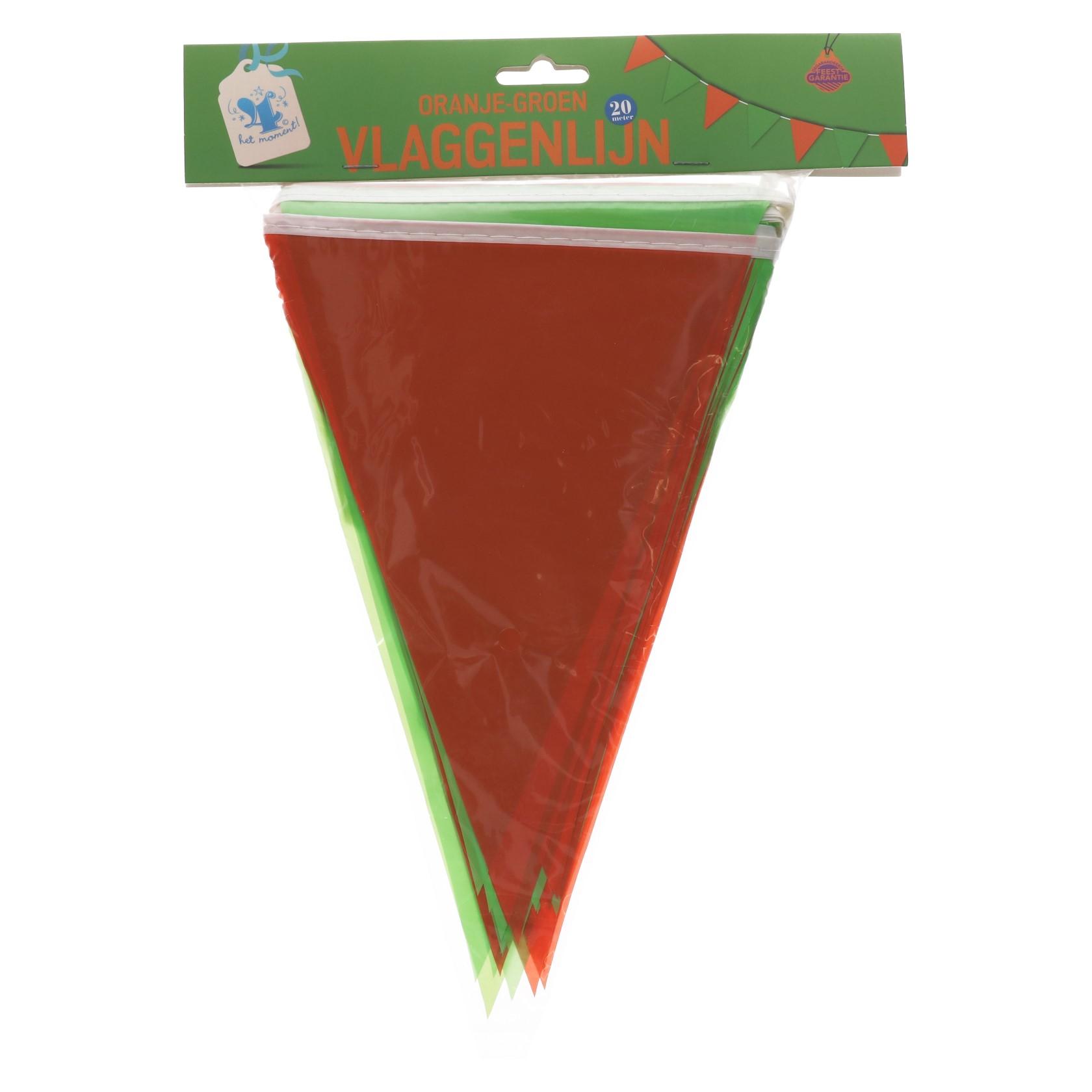 Vlaggenlijn oranje groen 20meter