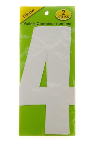 Vuilnisbak sticker 2 stuks nummer 4