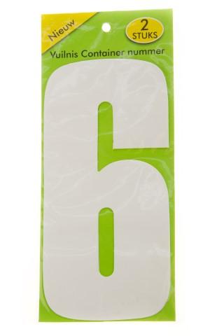 Vuilnisbak sticker 2 stuks nummer 6