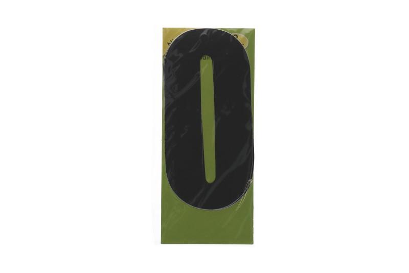 Vuilnisbak sticker 2st nummer 0 zwart