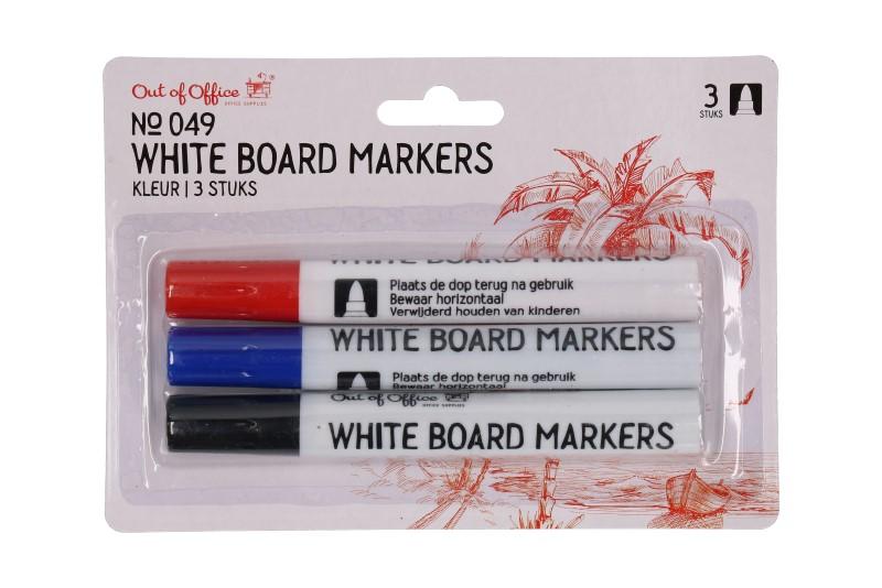 White board marker 3 kleuren