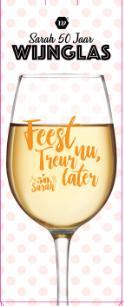 """Wijnglas """"Sarah"""" met spreuk"""