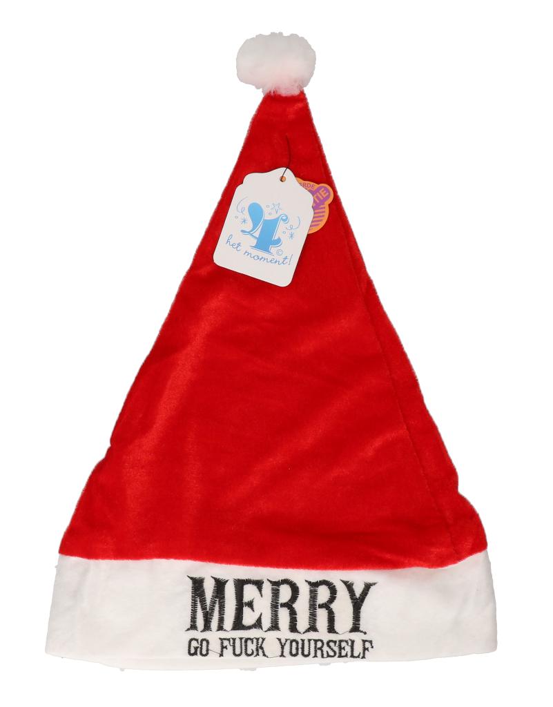 """Kerstmuts """"merry go fuck yourself"""""""