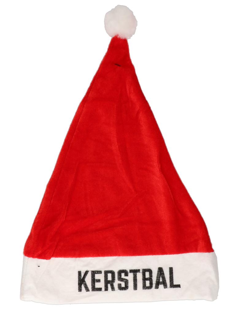 """Kerstmuts rood """"kerstbal"""""""