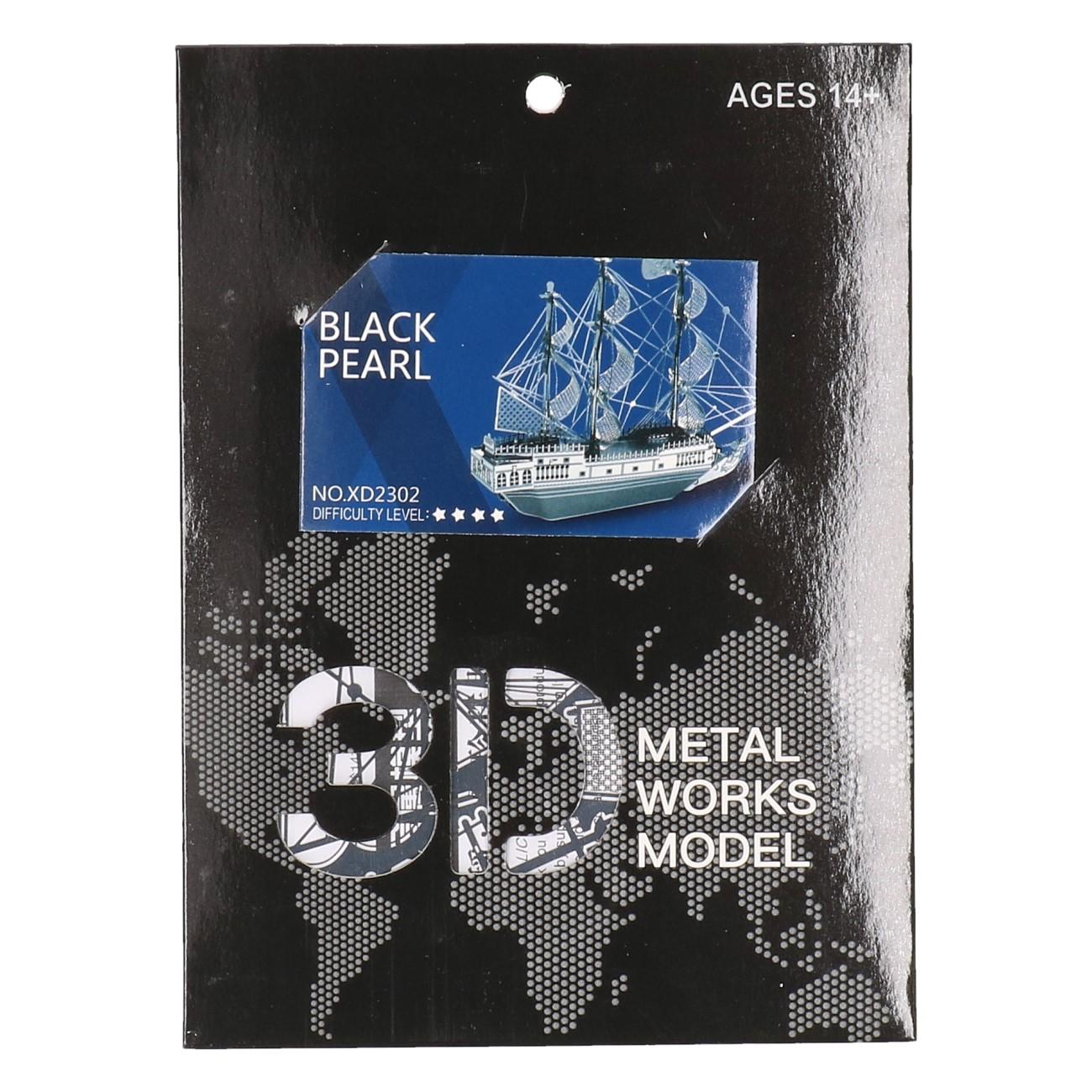 3D Metalen Black Pearl