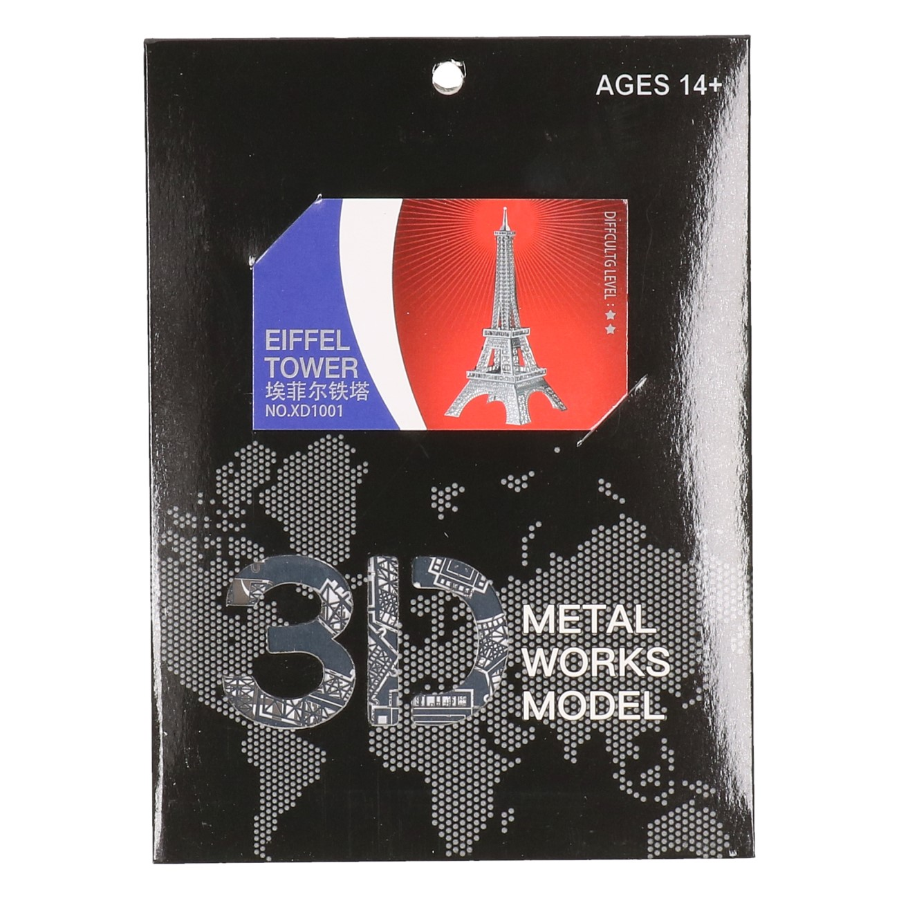 3D Metalen Eiffel Tower